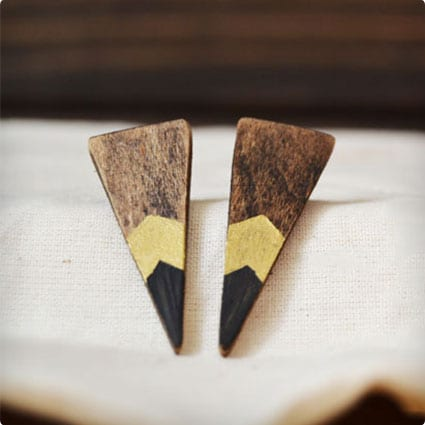 Anthro Inspired Wooden Earrings