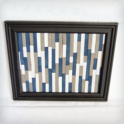 Artsy Wall Hanging Using Popsicle Sticks