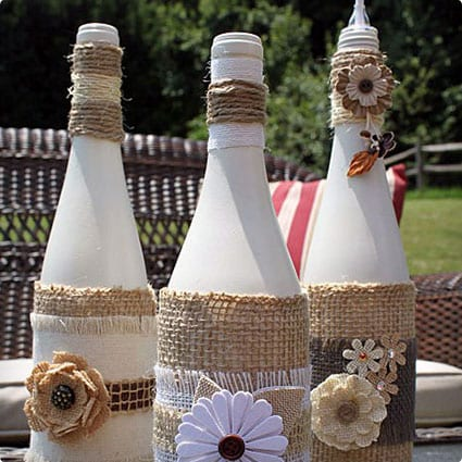 Citronella Tiki Wine Bottles