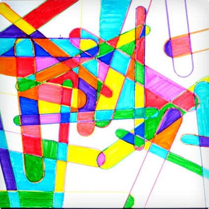 Colorful Popsicle Stick Art