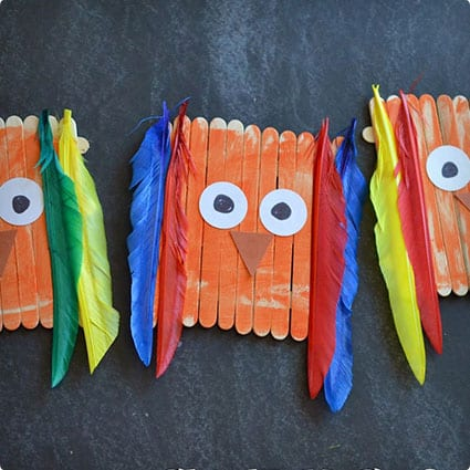 Crafty and Simple Owl Made From Popsicle Sticks