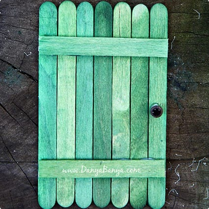 DIY Fairy Door From Popsicle Sticks