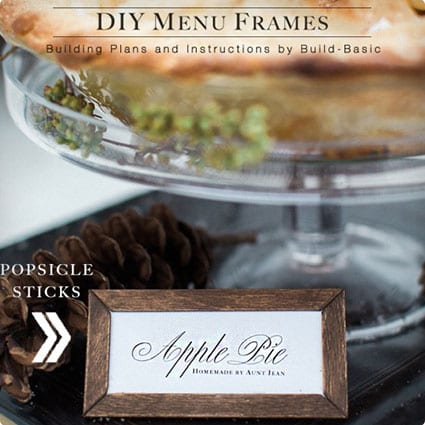 DIY Menu Frames Using Popsicle Sticks