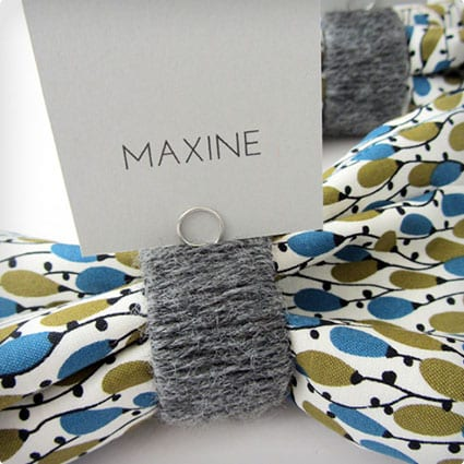 DIY Yarn and TP Tube Napkin Rings
