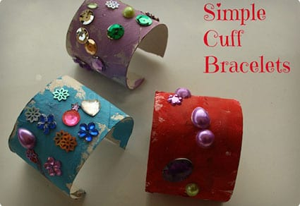 Easy Cuff Bracelets Made From TP Tubes