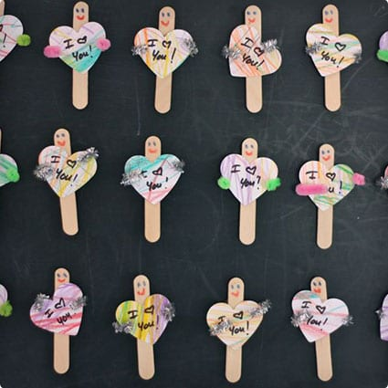 Easy Popsicle Magnet Valentines