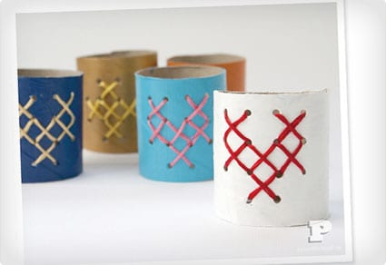 Embroidered TP Tube Napkin Rings