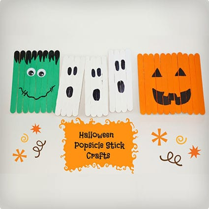 Fun Halloween Kids Crafts With Popsicle Sticks
