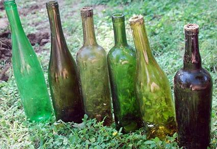 Garden Trim Made From Wine Bottles