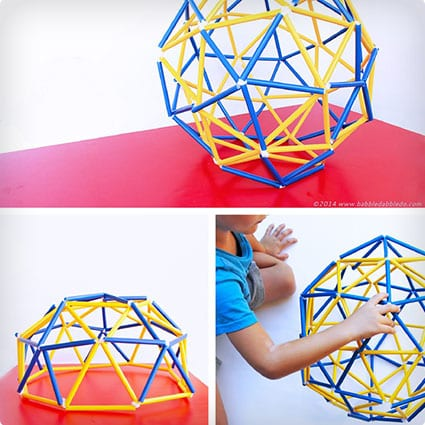 Geodesic Dome Using Pipe Cleaners