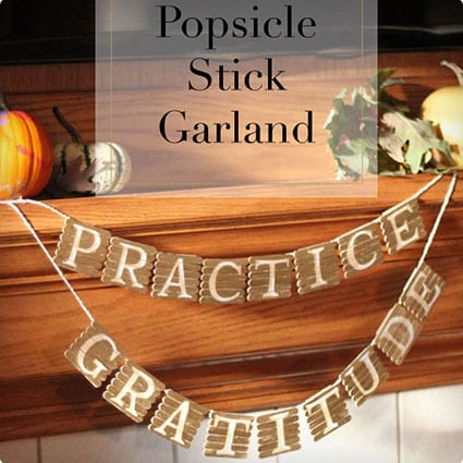 Gilded Message Garland Made With Popsicle Sticks