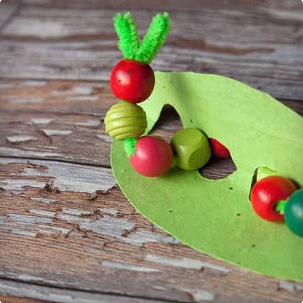 Hungry Caterpillar Pipe Cleaner Craft