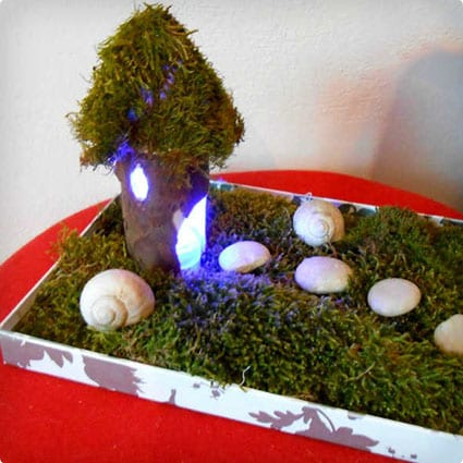 Indoor Fairy Houses Made With TP Rolls