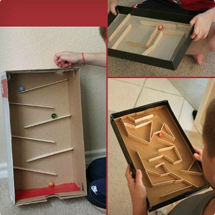 Marble Runs Made Using Popsicle Sticks