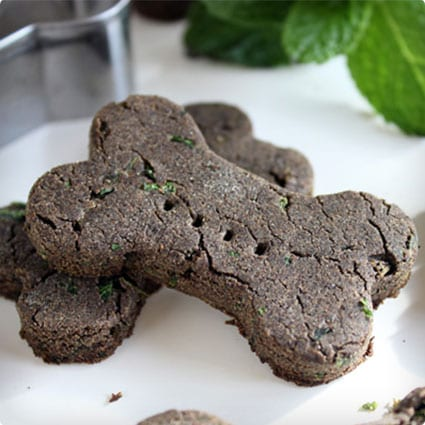Mint and Buckwheat Dog Biscuits