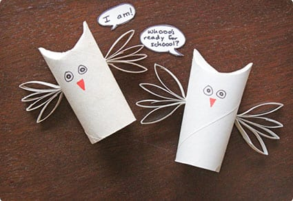 Motivational Owls Made From TP Tubes