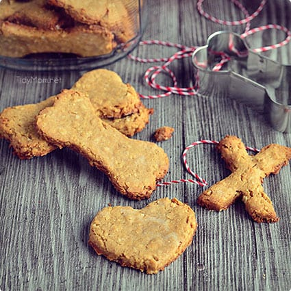 Peanut Butter and Coconut Dog Cookies