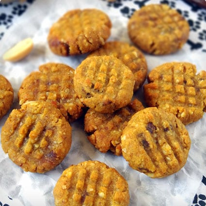 Peanut Butter and Pumpkin Dog Cookies With Dates