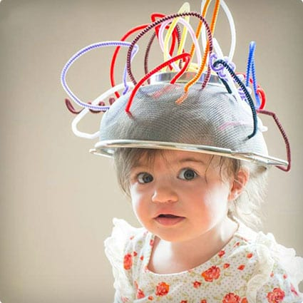 Pipe Cleaner Crazy Hats With Strainers