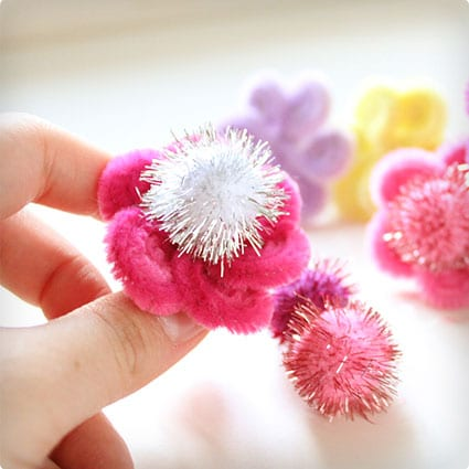 Pipe Cleaner Daisy Rings