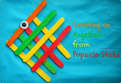 Popsicle Stick Angel Fish Craft