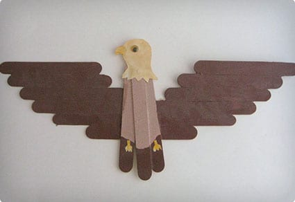 Popsicle Stick Eagle
