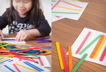 Popsicle Stick Matching Game For Kids