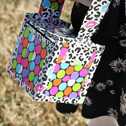 Popsicle Stick and Duck Tape Purse