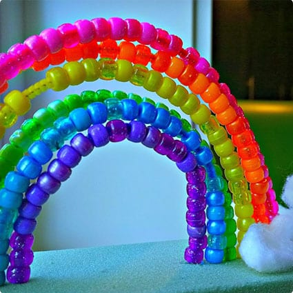 Rainbow Block Pipe Cleaner Craft