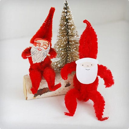 Retro Pipe Cleaner Santas