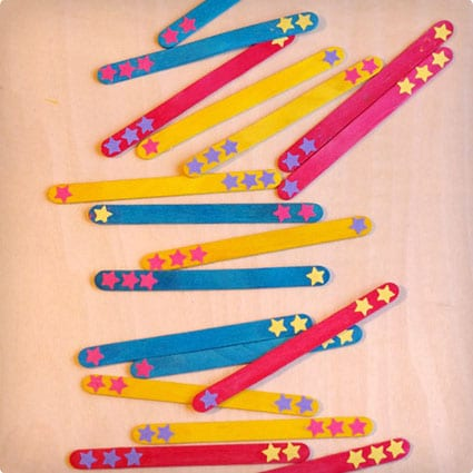 Seuss Inspired Colorful Counting Sticks