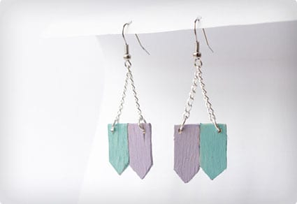 Simple DIY Earrings Using Popsicle Sticks
