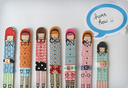 Simple Popsicle Stick Dolls