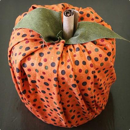 Toilet Paper Roll No-Sew Pumpkin