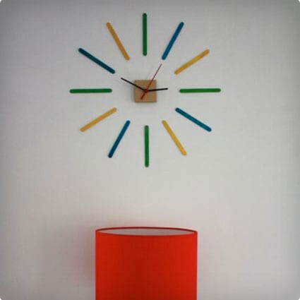 Trendy and Colorful Popsicle Wall Clock