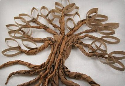 Twisted Paper Oak Wall Hanging