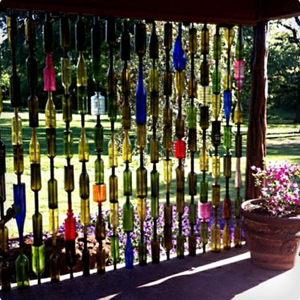 Upcycle Wine Bottles Into Garden Walls