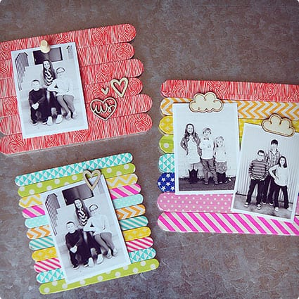 Washi Decorated Picture Frames