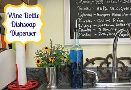 Wine Bottle Dish Soap Dispenser