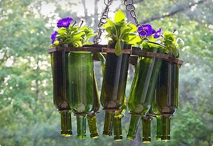 Wine Bottle Hanging Plantar