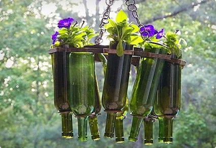Wine Bottle Hanging Plantar