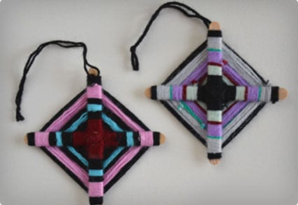 Woven Hopi Eye Ornaments