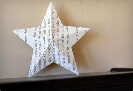 3D Paper Star Tree Topper