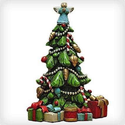 4 Inch Christmas Tree Miniature Statue Figurine