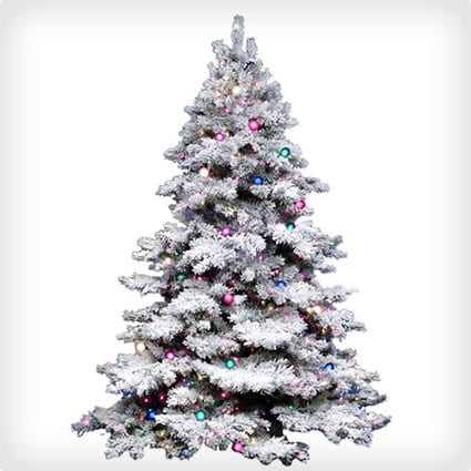Alaskan Pine Artificial Christmas Tree With Multi-Colored Lights
