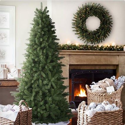Bellevue Spruce Artificial Christmas Tree, 7.5 Feet, Unlit