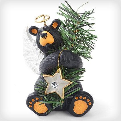 Big Sky Carvers Angel Bear Tree Topper