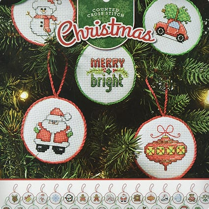 Bucilla Counted Cross Stitch Mini Ornament Kit, 86672 Christmas