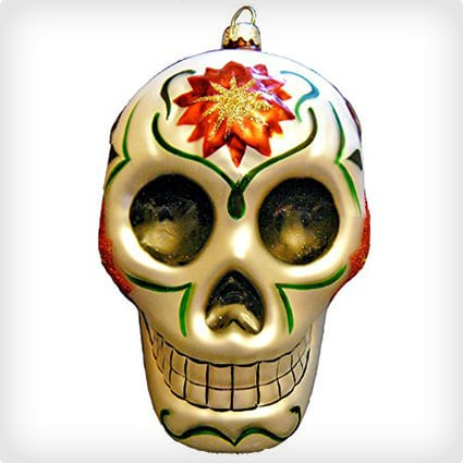 CasaQ by Darlene 'Christmas Calavera' Day of the Dead Skull