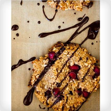 Chocolate Peanut Butter Pomegranate Cookies